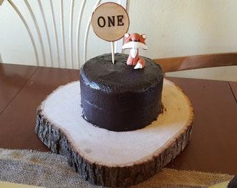 First Birthday Wood Slice Cake Topper