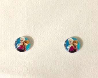 Magnetic Frozen Anna and Elsa Earrings