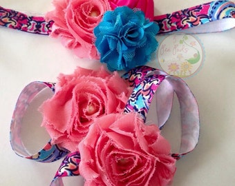 Barefoot sandals and headband set