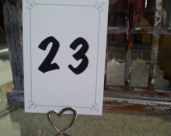silver wedding table numbers