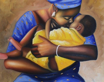 African painting oil hand made painting