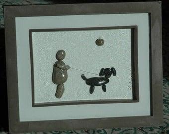 Walking with best friend...pebble art