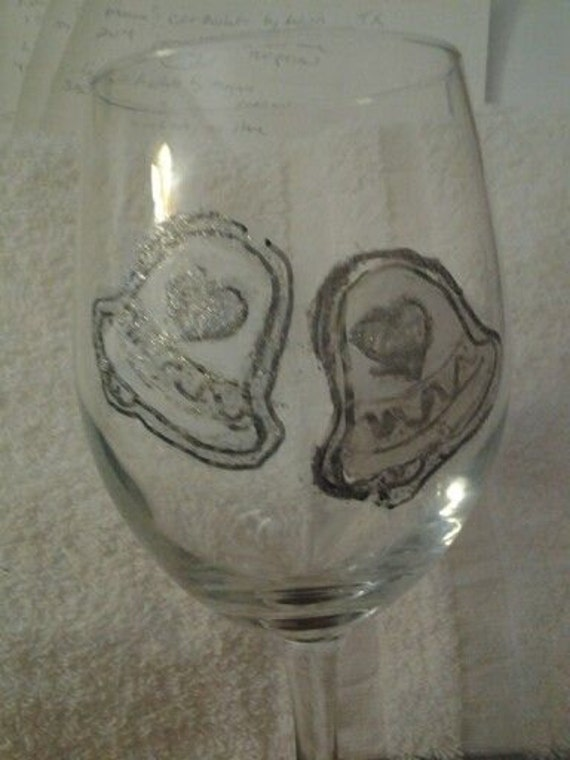 Hand Painted Wedding Glasses Hand Painted By GiftBasketsbyMel