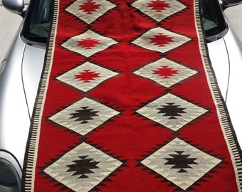 L@@K!! Rare Vintage Navajo Weaving Blanket Native American Indian Rug 1900's