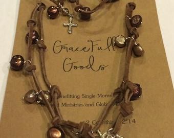 Convertible 5-Wrap Necklace/Bracelet