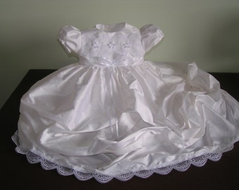 Girls Pure Silk Christening gown