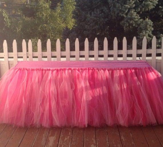 17 Feet Tulle Tutu Table Skirts