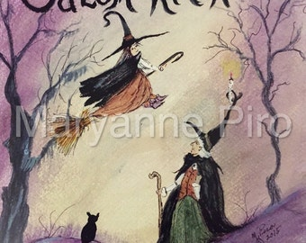 """Salem Witches 8x10"""" Colored Print"""
