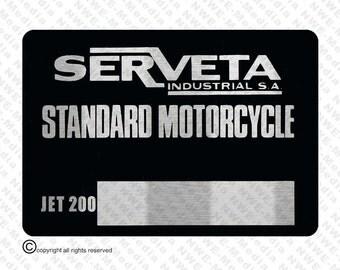 Lambretta Serveta JET 200 VIN Chassis Plate