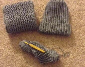Infinity scarf and beanie set