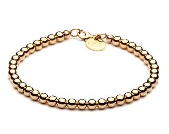 Ball bracelet • 4 mm • gold