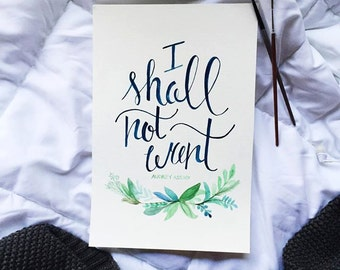I Shall Not Want Watercolor Painting