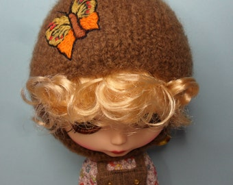 BLYTHE DOLL Brown Butterfly Helmet Only