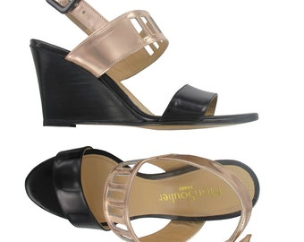 SUMMER SALES, Wedge leather sandals, Open toe wedges, Black leather wedges, leather wedge sandal, Italian made leather shoes, Cape Town