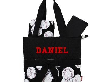 Personalized Baseball diaper Bag/ Boy's Diaper Bag/ FREE MONOGRAM