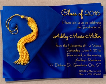Graduation Announcement - Graduation Invitation - Graduation Party Invitation - Printable Graduation Announcement