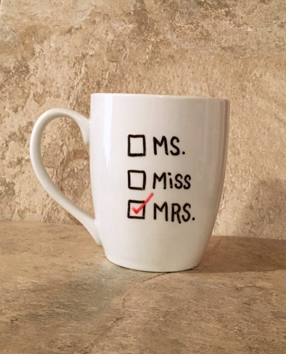 Wedding Gift Mugs Suggestions : Mrs Mug, Bride to Be Gift, Wedding Mugs, Wedding Gift, Gift for Bride ...