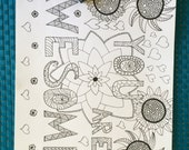 Adult Colouring Page You Are Awesome