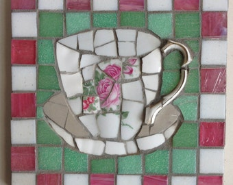Vintage Cup of Tea Mosaic