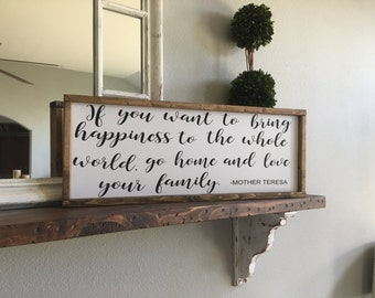 If you want to bring happiness Sign