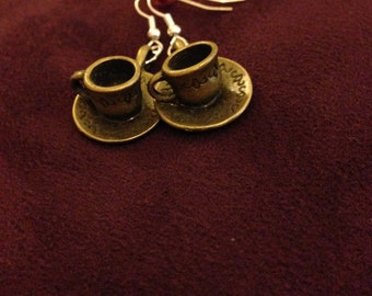Tea cup earrings
