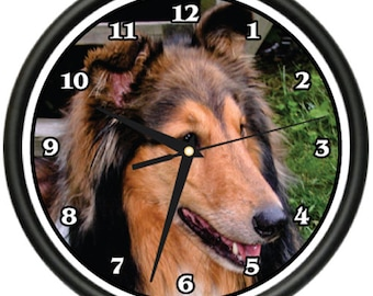 Collie Wall Clock Dog Doggie Pet Breed Gift