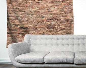 Brick Wall Loft Urban Decor Rustic City Boho Wanderlust Unique Dorm Home Decor Wall Art Tapestry