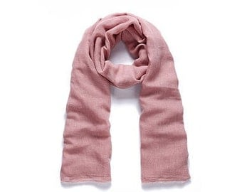 Long shawl Flower Pink