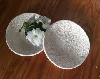 Vintage Lace Bowls set of 2