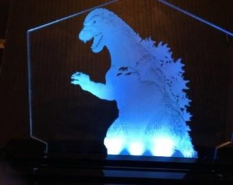 Godzilla Multicolor LED Edge Lit Acrylic Light