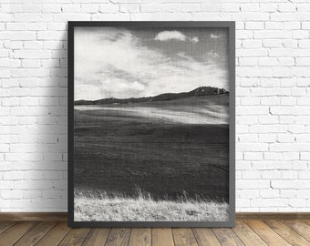 """nature photography, large art, printable art, instant download printable art, black and white, wilderness, rustic art - """"Passing Shadows"""""""