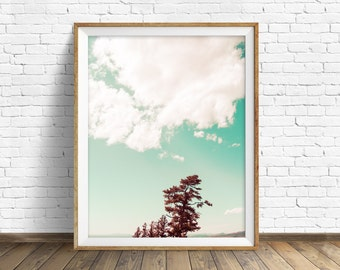 "landscape photography, large art, printable art, instant download printable art, clouds, colorful, nature photography - ""Into the Clouds"""