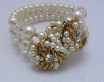 Ornate Cuff Bracelet - Bangle - Hand wired jewelry