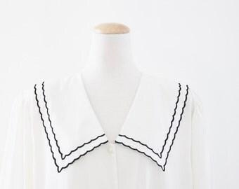 Vintage White Sailor Blouse