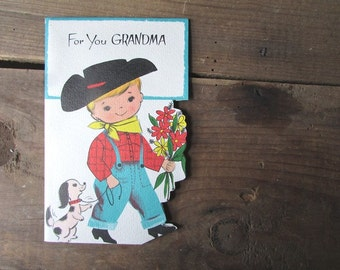 Vintage Mother's Day Card from a grandson