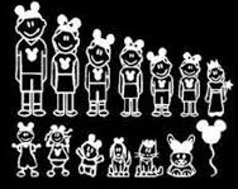 Disney Family Decals-1 for 1.00-Vinyl-Decal-Sticker-Car
