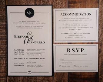 Black And Gold Wedding Invitation, Ampersand Wedding Invitation, Black And Gold Invitation, Black And Gold Invitations, ampersand Invitation