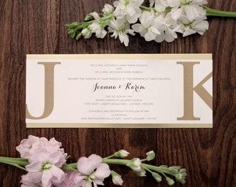 gold foil invitation, cream invitation, cream cotton invitation, Gold Foil Wedding Invitations, Cream Wedding Invitation, Handmade Invites