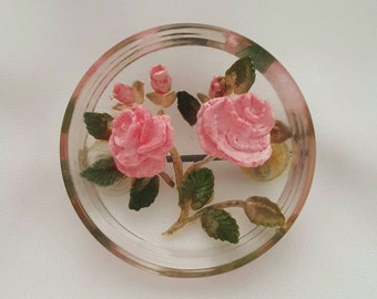 Lucite flower pin