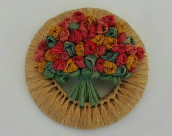 Colorful Flower Bouquet Pin