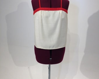 Vintage 80s Red and White Tank Top