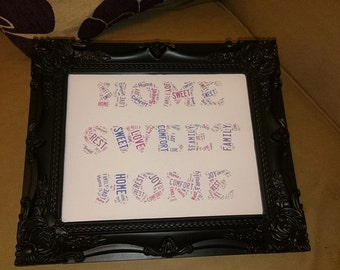 Framed Home Sweet Home Wordart