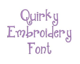 3 Size Quirky Embroidery Font Embroidery Designs, BX fonts Machine Embroidery Designs - 9 File Fomats - INSTANT DOWNLOAD