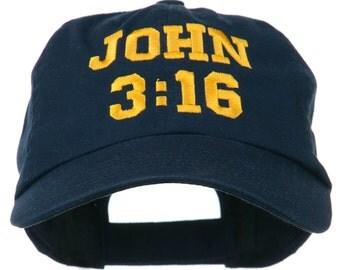 John 3:16 Embroidered Pet Spun Cap