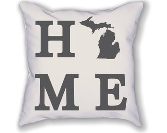 Michigan Home State Pillow