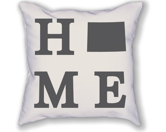 Wyoming Home State Pillow