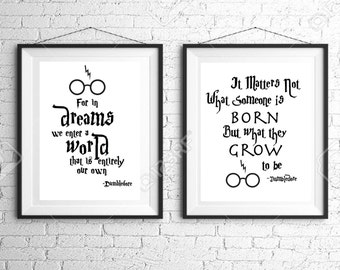 2 downloads, Harry Potter baby, Instant Download, Dumbledore, printable, nursery printable, harry potter nursery, harry potter nursery decor