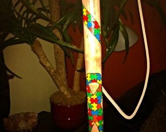 Autism Awareness Ribbon Walking Stick