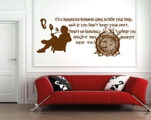 The Hobbit Sticker wall art room wall sticker the lord of the rings/hobbit/bilbo baggins/lord of the rings/film/book/game wall sticker