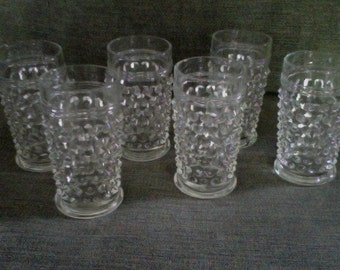 Hobnail Juice Glasses